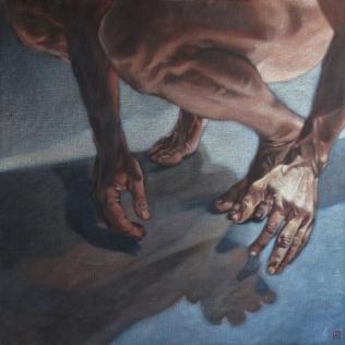 """""""la part de l'ombre IV"""", 2009 100 x 81 cm acrylique sur toile"""