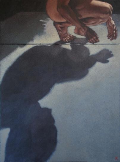 la part de l'ombre VI - 2009 ; 100 x 81 cm, acrylique sur toile