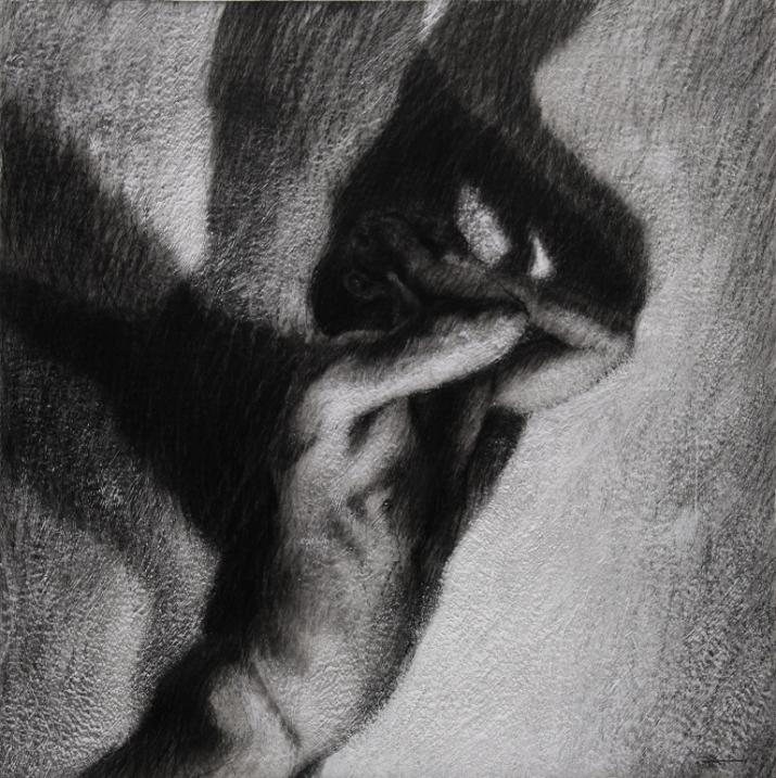 Ipseidad 14 - 2014 ; 50 x 50 cm ; mixte sur papier chiffon