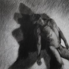 Ipseidad 15 - 2014 ; 56 x 56 cm ; mixte sur papier chiffon