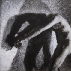 Ombre 2 - 2014 ; 56 x 56 cm ; mixte sur papier chiffon