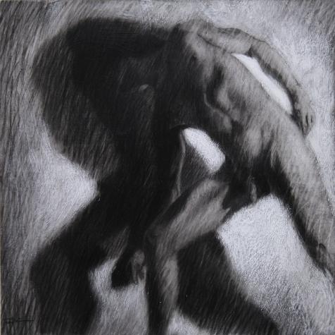 Ipseidad 11- 2014 ; 40 x 40 cm ; mixte sur papier chiffon