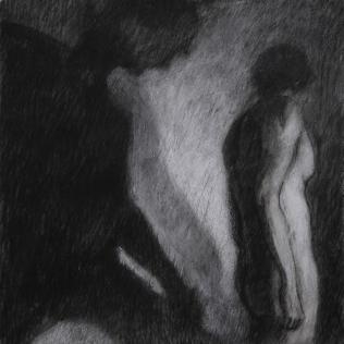 Ipseidad 4 - 2014 ; 40 x 40 cm ; mixte sur papier chiffon