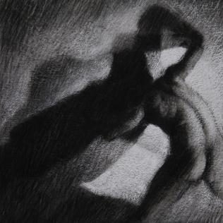 Ipseidad 23 - 2014 ; 40 x 40 cm ; mixte sur papier chiffon