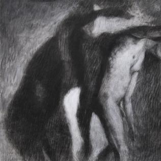 Ipseidad étude 3, 2014 ; 40 x 40 cm ; mixte sur papier chiffon