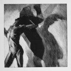 Sombra 26, 2017 - 50x50 cm - Monotype sur papier Fabriano