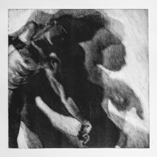Sombra 27, 2017 - 50x50 cm - Monotype sur papier Fabriano