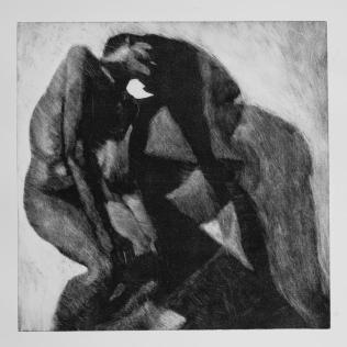 Sombra 28, 2017 - 50x50 cm - Monotype sur papier Fabriano