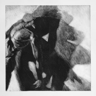 Sombra 27, 2029 - 50x50 cm - Monotype sur papier Fabriano