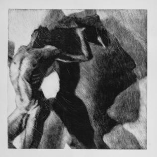Sombra 30, 2017 - 50x50 cm - Monotype sur papier Fabriano