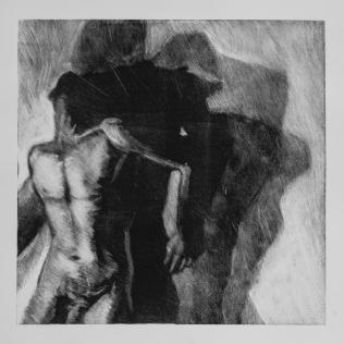 Sombra 31, 2017 - 50x50 cm - Monotype sur papier Fabriano