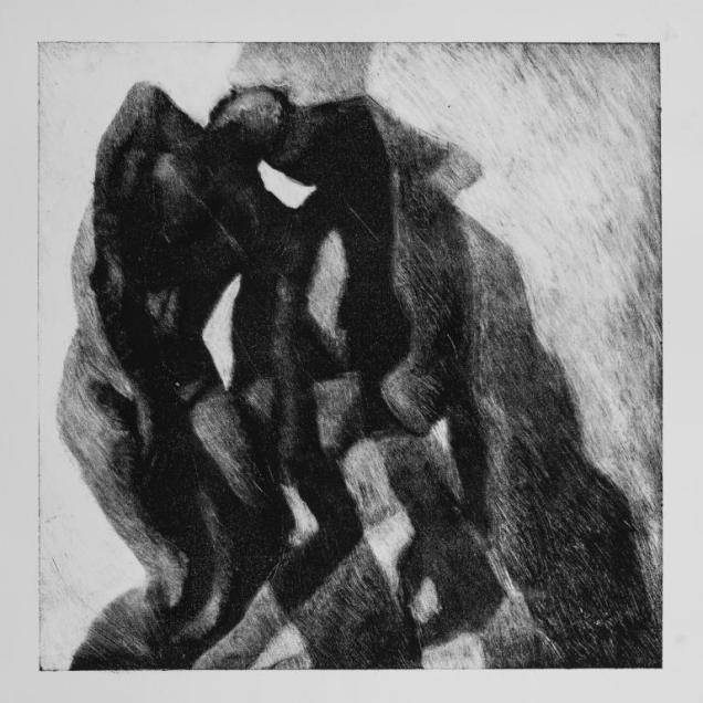 Sombra 32, 2017 - 50x50 cm - Monotype sur papier Fabriano