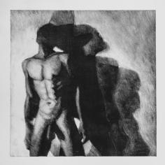 Sombra 23, 2017 - 50x50 cm - Monotype sur papier Fabriano