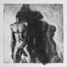 Sombra 24, 2017 - 50x50 cm - Monotype sur papier Fabriano